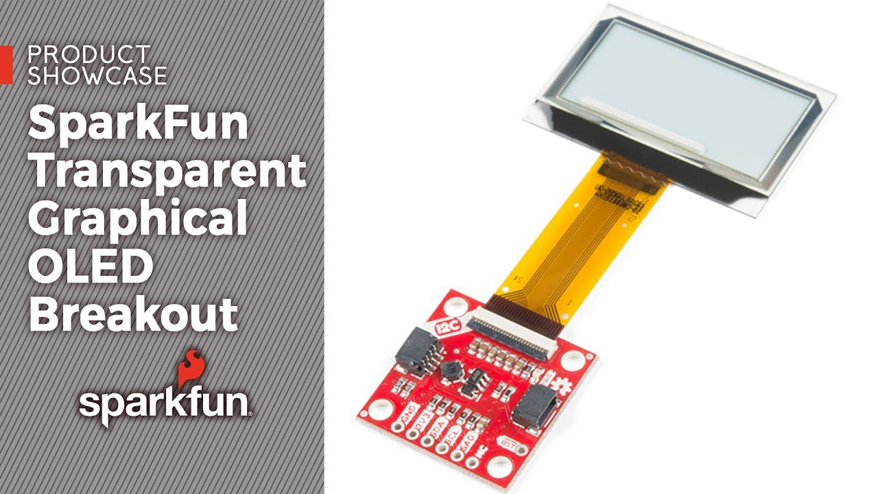 Product Showcase: SparkFun Transparent Graphical OLED Breakout