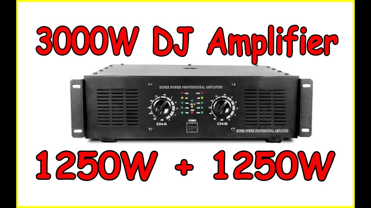 Power Amplifier Balap : 3000w power amplifier studiomaker youtube ~ Hamham.info Haus und Dekorationen