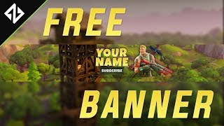 FREE Fortnite Battle Royale BANNER TEMPLATE | +DOWNLOAD | Photoshop CC, CS6