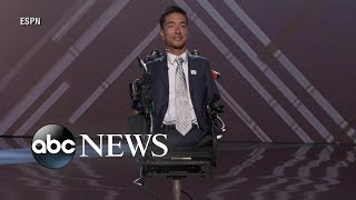 Football coach wins Jimmy V Award at ESPYs in inspiring moment