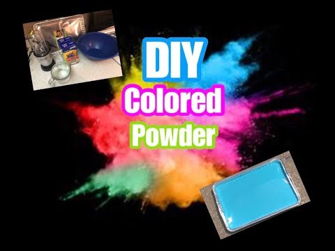 HOW TO MAKE COLORED POWDER FOR A GENDER REVEAL!