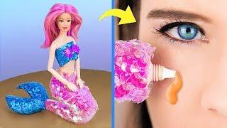 Download Косметика в виде кукол / 8 лайфхаков и поделок с Барби и ЛОЛ Mp3 and Videos