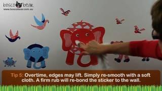 How to Apply Wallstickers - Peel & Stick Method