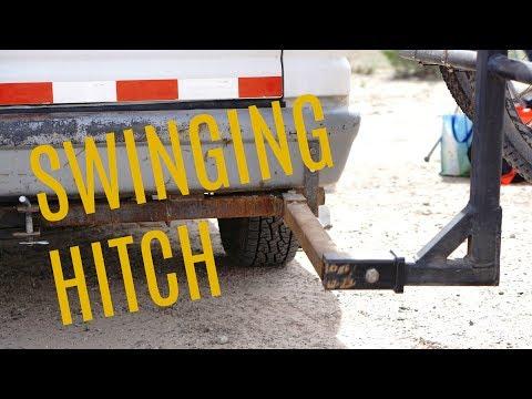 Custom Swinging Hitch for Bike Rack