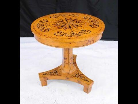 Scandinavian Biedermeier Round Centre Dining Table