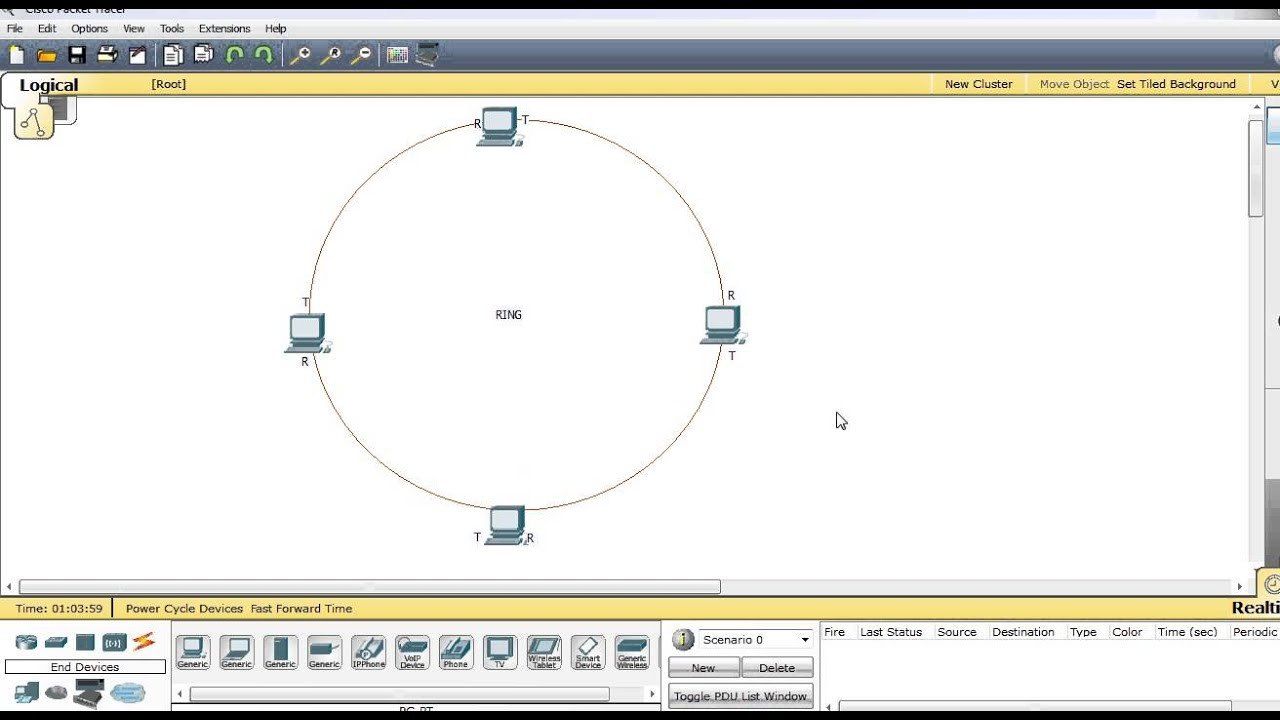 Network topology ring topology youtube ccuart Gallery