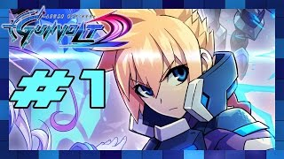 Azure Striker Gunvolt 2 - Walkthrough Part 1 Infiltrator (Gunvolt)