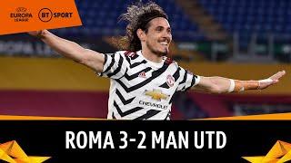Roma v Man Utd (3-2) | Cavani Brace As Red Devils Reach Final | Europa League Highlights