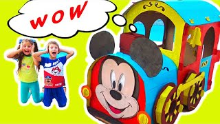 Amazing train or Сardboard toys from Petro and Nadiia - Stories for kids by Chiki-Piki