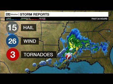 Severe storm hits Mississippi