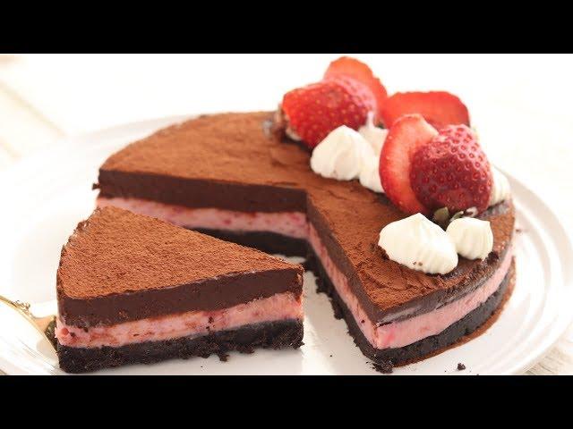 苺とオレオの焼かない生チョコタルト 混ぜるだけ簡単レシピ|HidaMari Cooking