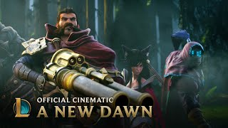 League of Legends Cinematic: A New Dawn(Day breaks over a landscape consecrated by blood and steel. A battle begins as a new dawn rises. Behind The Scenes: ..., 2014-07-22T12:05:02.000Z)