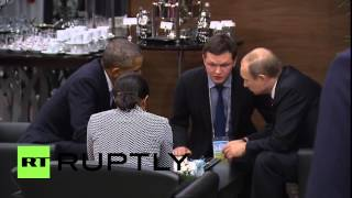 Turkey: Putin and Obama have one on one talk at G20 summit