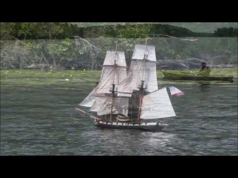 Brig Syren Sails Sylvan Lake