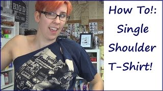 Sewing Nerd! - Tutorial: No-Sew One-Shoulder Tee!
