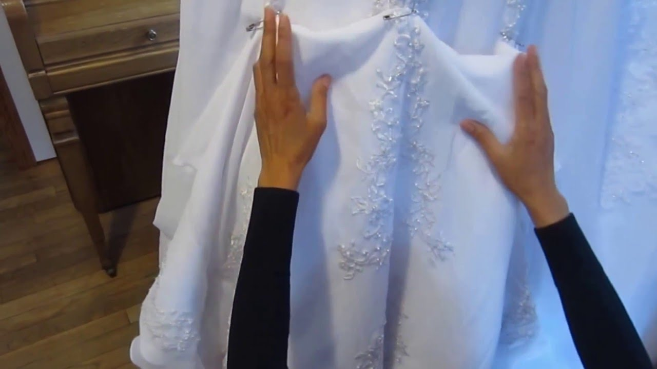Bridal Gown American Bustle Tutorial & How To Make The Loops ...