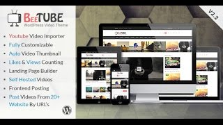 BeeTube Video WordPress Theme Installation
