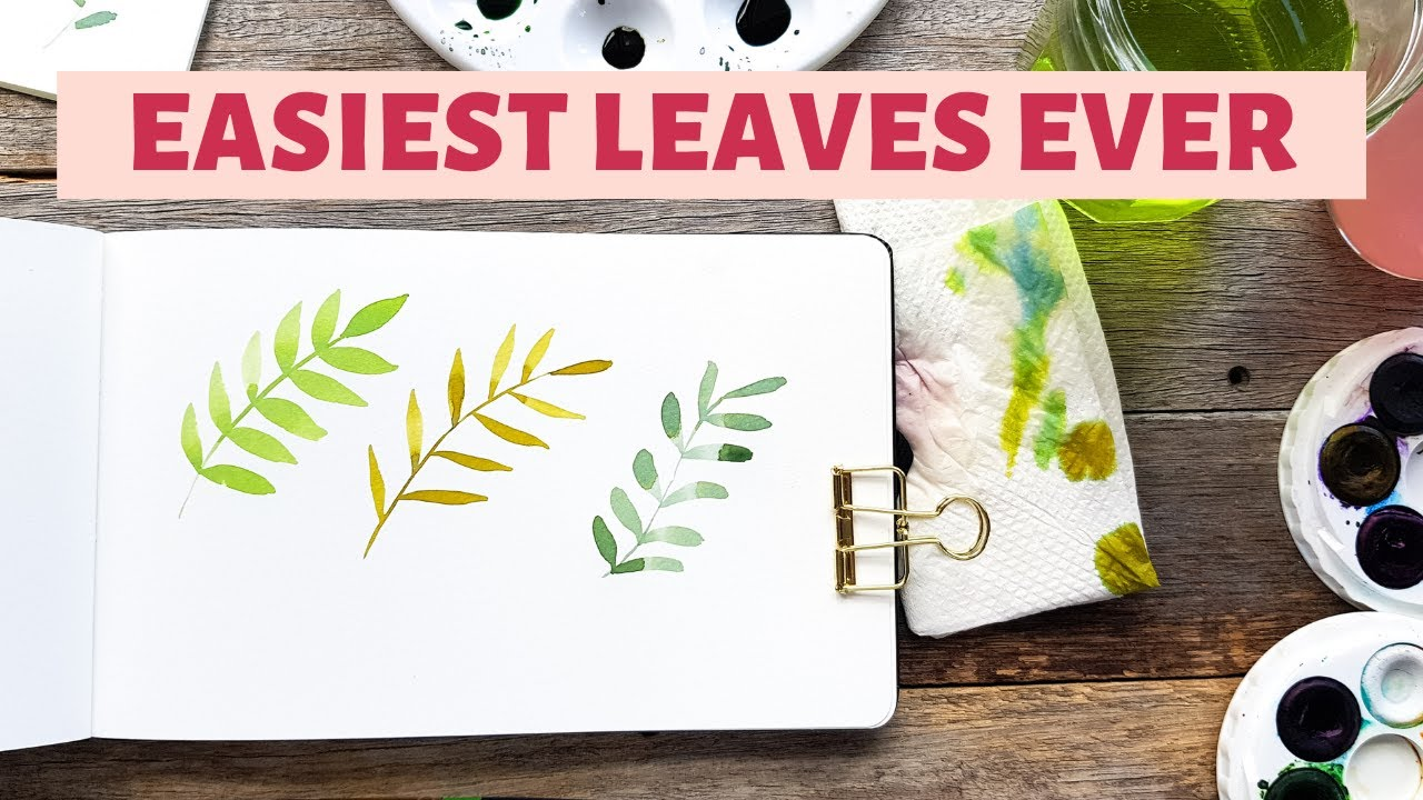 Step-by-step watercolour leaves PLUS how to paint the perfect leaf
