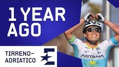 Alexey Lutsenko Crashes Twice in Miracle Win | 1 Year Ago | Cycling | Eurosport