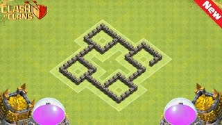 Clash of Clans Town Hall 4 (TH4) Defense BEST Farming Base Layout Defense Strategy