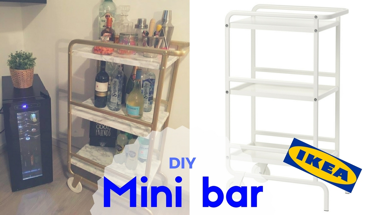 Diy Mini Bar Ikea Sunnresta Barzinho Brunnacom2ns