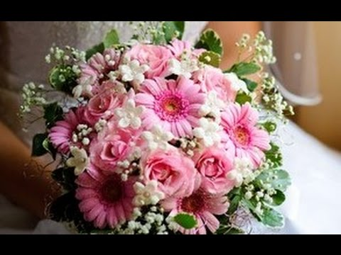 Gerbera Daisies Wedding Bouquet - YouTube