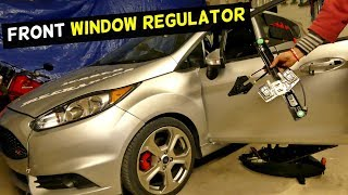 HOW TO REPLACE FRONT WINDOW REGULATOR ON FORD FIESTA MK7