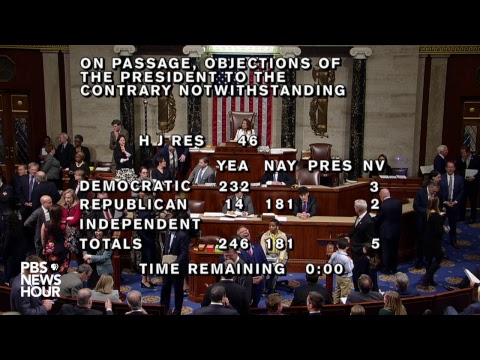 WATCH LIVE: House votes on overriding Trump's first veto