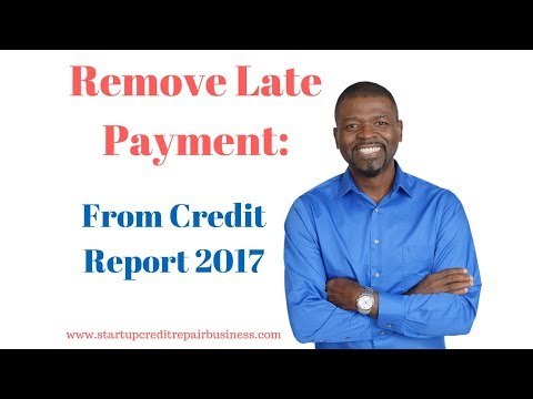 Remove Late Payment From Credit Report