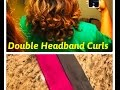Double Headband Curls on Straight, Natural Hair