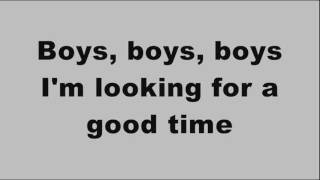 Sabrina - Boys boys boys (Lyrics on Screen)