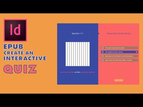 Indesign CC Epub How To Create An Interactive Quiz
