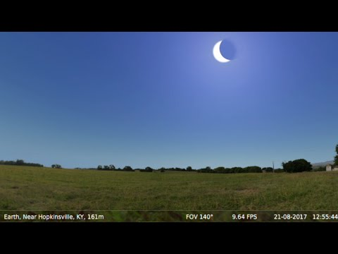 Total Solar Eclipse U.S.A. Aug 21st, 2017 (Simulation) ★★★★★