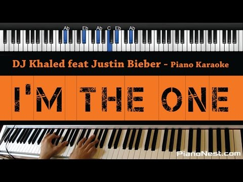 DJ Khaled - I'm the One feat. Justin Bieber - Piano Karaoke / Sing Along / Cover with Lyrics