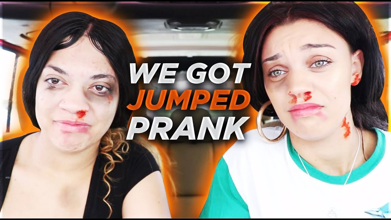 """WE GOT JUMPED PRANK"" ON HUSBAND & BOYFRIEND!! **they freaked out**"