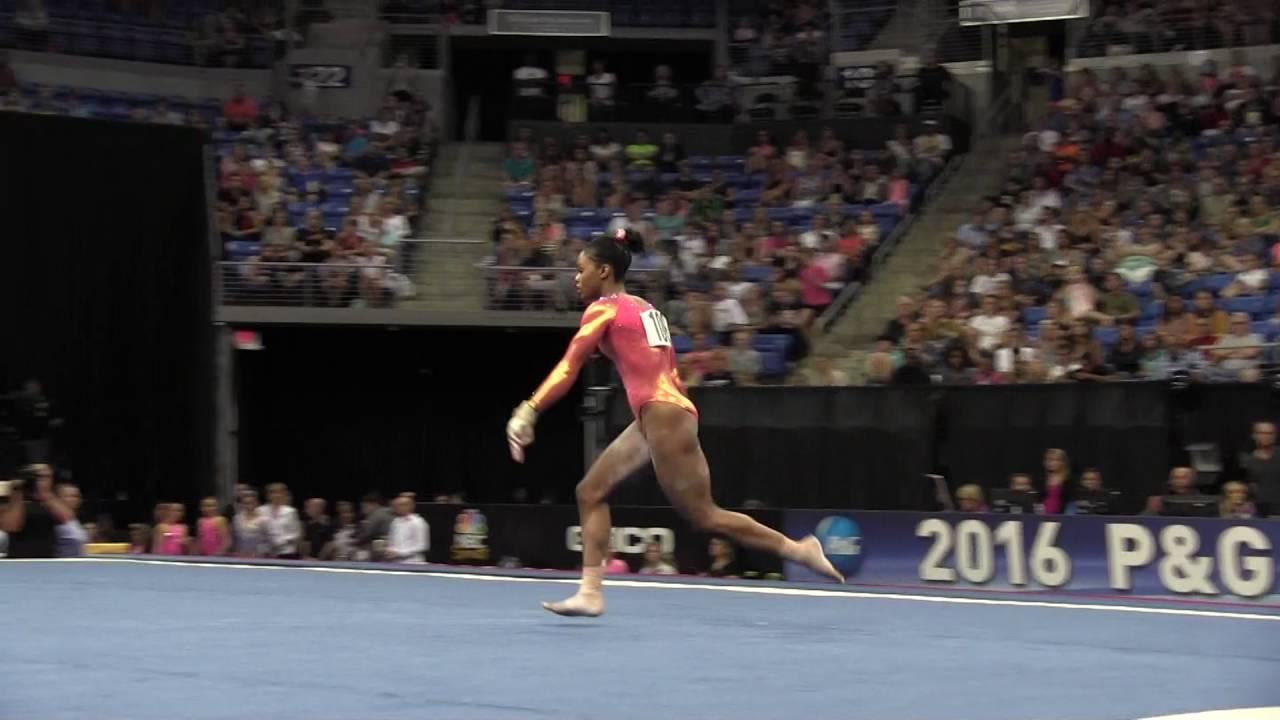 Floor Gymnastics Gabby For Gabby Douglas Floor Exercise 2016 Pg Gymnastics Championships Sr Women Day Youtube
