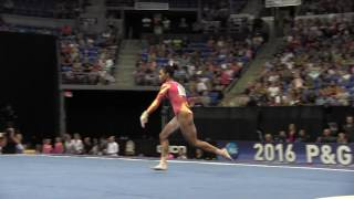 Gabby Douglas - Floor Exercise - 2016 P&G Gymnastics Championships – Sr. Women Day 1