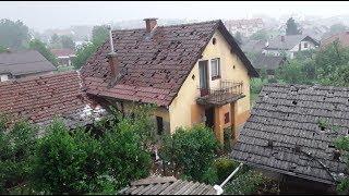 Огромный град в Словении и его последствия