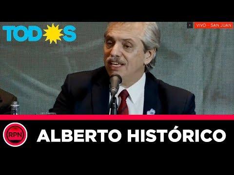 Alberto se reunió con Uñac y dejó ENORMES definiciones sobre el futuro del país