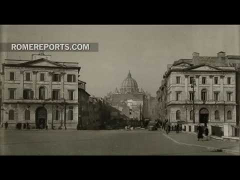 When St. Peter's Square was hidden amid the streets of Rome