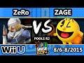SSC - TSM | ZeRo (Sheik) Vs. Zage (Pac-Man) SSB4 Pools R2 - Smash Wii U - Smash 4