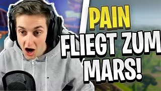 PAIN flies to Mars! Funny Hoverboard Bug! | Fortnite Highlights English