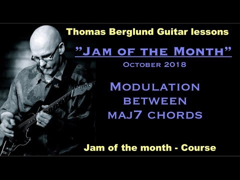 Jam of the month  - Modulate between two maj7 chords - Jazz guitar lesson