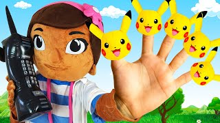 Five Little Monkeys Song with Pikachu + More Children Songs by iFinger