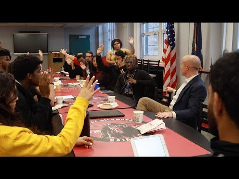Rep. Max Rose addresses gun violence concerns with Port Richmond High School students