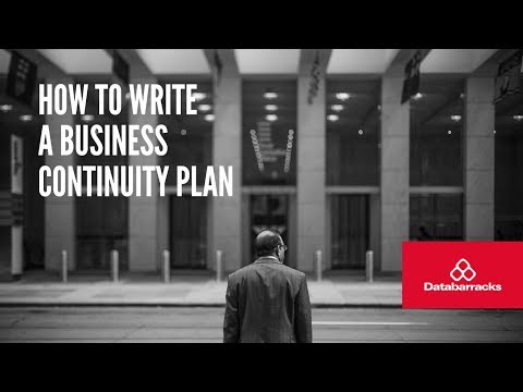 How to write a business continuity plan