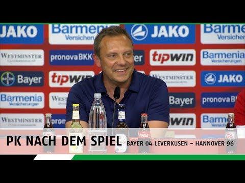 PK nach dem Spiel | Bayer 04 Leverkusen - Hannover 96