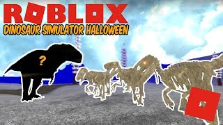 Roblox Dinosaur Simulator Halloween - HUGE Fossil Utah Pack! + More Carcha Animations!
