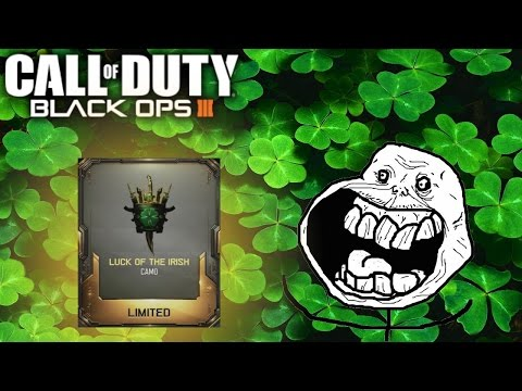 BLACK OPS 3 LUCK OF THE IRISH RARE SUPPLY DROPS! (Crazy Reactions)