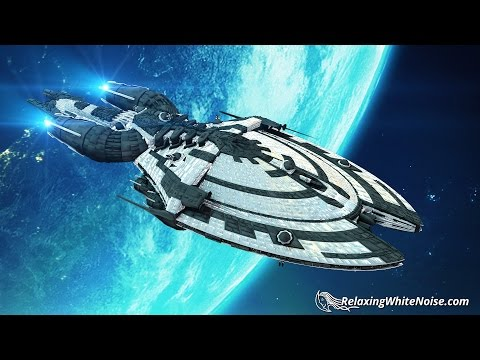 Soothing Starship Ambience White Noise | Spaceship Sounds for Sleeping or Studying | 10 Hours